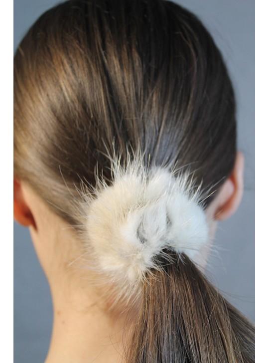 Меховые резинки для волос