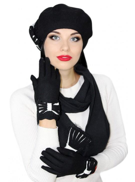 Комплектация головного убора: Перчатки Комплектация головного убора: Перчатки и шарф