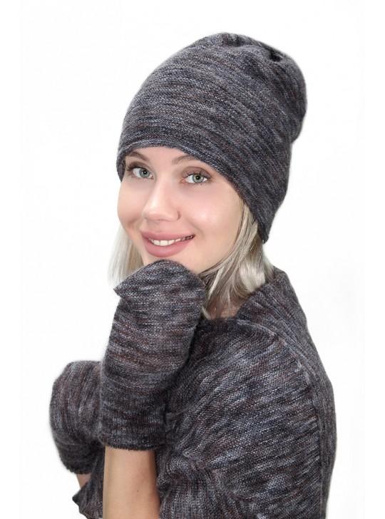 Комплектация головного убора: Варежки и шаль