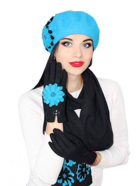 Комплектация головного убора: Перчатки и шарф
