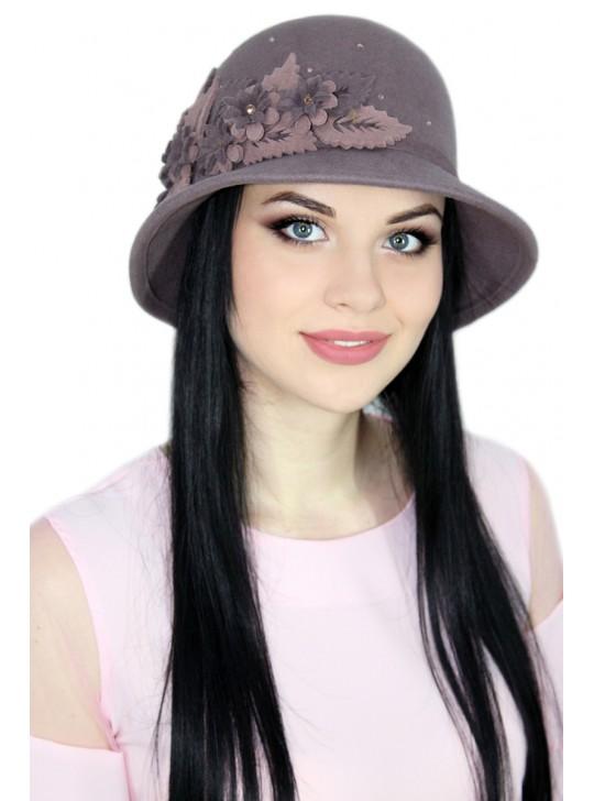 фетровая шляпа женская