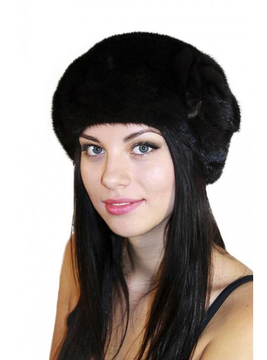 "Меховая шапка ""Цветок"""