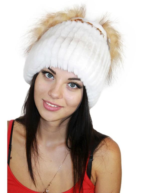 """Меховая шапка """"Невеста"""""""
