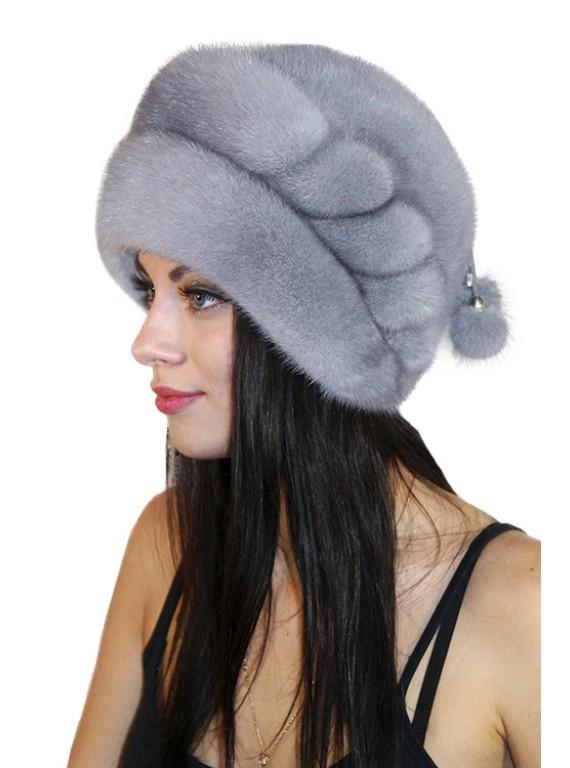 """Меховая шапка """"Беатрис"""""""