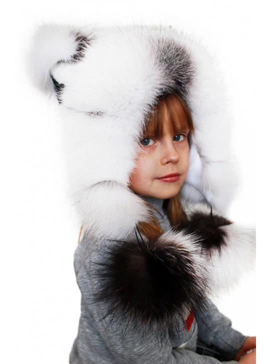 """Детская шапка """"Белочка белая"""""""