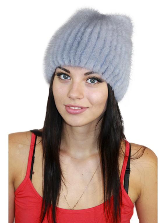 """Норковая шапка """"Кортни"""""""